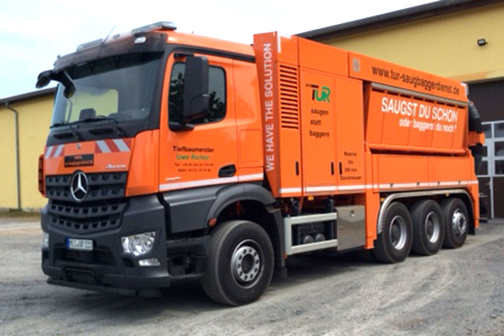 Unser Saugbagger MB AROCS 5